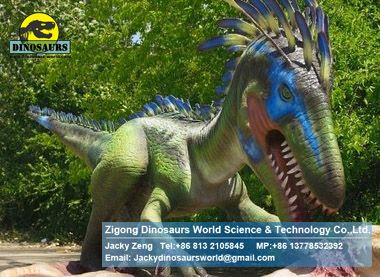 Amusement rides children outdoor games dinosaurs (Ornitholestes) DWD075