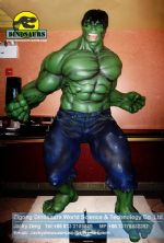 Green hulk movie lobby figure theme park slide DWC016