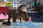 Playground trade exhibition animatronic dinosaurs toy ( Triceratops ) DWD038
