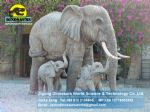 Amusement park animatronic life size statue bronze elephant DWA046