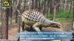 Children outdoor games climbing frame dinosaurs statue (Ankylosaurus) DWD115