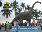 Life size animal fiberglass statue animatronic dinosaur Brachiosaurus DWD182