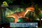 Ancient world artificial Dilophosaurus model in Dinosaur Park DWD1469