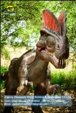 Robotic dinosaur CE standard alive animatronic dilophosaurus DWD1467