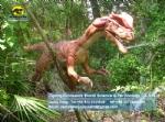 Life size Water Splitting Dilophosaurus model in Dinopark DWD1468