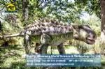 Life size artificial Ankylosaurus model in Dinosaur Park DWD1466