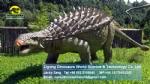 Life size artificial electric dinosaur model Ankylosaurus DWD1462