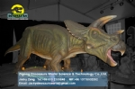 Animatronic mechanical dinosaurs show big triceratops DWD1347