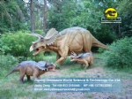 Electric Triceratops family in the dinopark (one adult,two babies) DWD1441