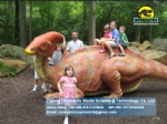 life size artificial dinosaur kids ride on parasaurolophus model DWD1509