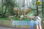 Large dinosaur model Iguanodon attacked by five raptors DWD1510