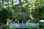 Life size dinosaur replicas parasaurolophus mechanical model DWD1445