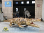 Zoo park custom high simulation animatronics crocodile DWA153