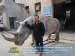 Zoo Museum custom high simulation artificial Rhinoceros DWA154