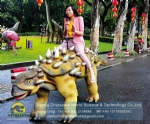 Amusement Park Walking Dinosaur Ride Ankylosaurus Model DWW009