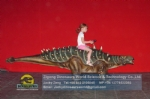 Life Szie Baby Dinosaur Walking Ankylosaurus Ride For Kids DWW008