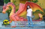 Kids playground games decoration fiberglass dragon DWD196